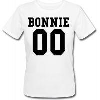 Женская именная футболка BONNIE (принт спереди) [Цифры можно менять] (50-100% предоплата)