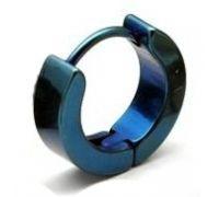 Серьга Кольцо Синее