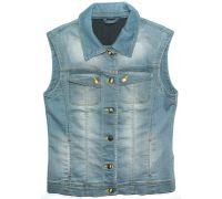 Женская джинсовая жилетка (голубая)