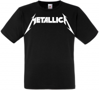 Футболка Metallica (white logo)