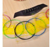 Струны для акустической гитары 6 шт. (цветные)