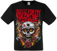 "Футболка Bullet For My Valentine ""Skull, Roses And Guns"