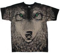 Футболка Волк (зеленые глаза)