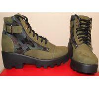 Женские ботинки (камуфляж)