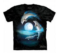 Футболка Дельфины На Фоне Луны