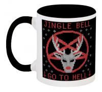 Кружка Jingle Bell Go To Hell (чёрная)