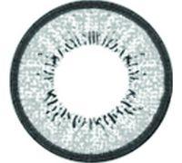 Линзы контактные серые с чёрным ободком + контейнер в ПОДАРОК