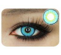 Линзы контактные голубые (подходит для темных лаз) + контейнер в ПОДАРОК