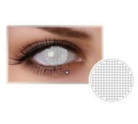 Линзы контактные белая сетка (муха) + контейнер в ПОДАРОК