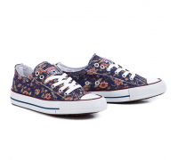 Кеды Converse (Purple with Flowers) [Реплика]