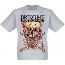 "Футболка Bring Me The Horizon ""Skull & Guns"" (меланж)"
