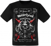 "Футболка Motorhead ""40 Years Of Motorhead"""