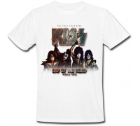 Футболка Kiss - End Of The Road - World Tour (белая)