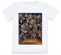Детская футболка Avengers: Infinity War (белая)