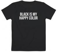 Детская футболка Black Is My Happy Color (чёрная)