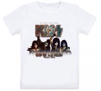 Детская футболка Kiss - End Of The Road - World Tour (белая)