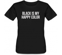 Женская футболка Black Is My Color (чёрная)