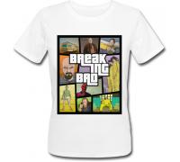 Женская футболка Breaking Bad - GTA Style (белая)