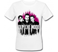 Женская футболка Depeche Mode (белая)