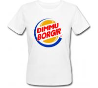 Женская футболка Dimmu Borgir - Burger King (белая)