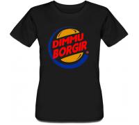 Женская футболка Dimmu Borgir - Burger King (чёрная)