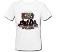 Женская футболка Kiss - End Of The Road - World Tour (белая)