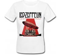 Женская футболка Led Zeppelin - Mothership (белая)